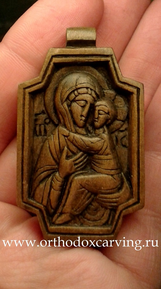 Образок Богоматерь с Младенцем 30х52мм