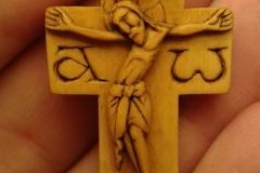 Крест нательный 34х23 самшит